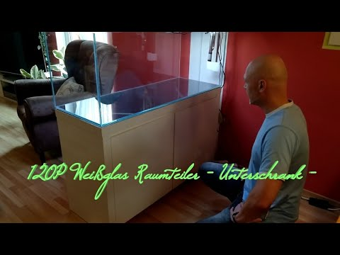 120P Weißglas Raumteiler - der Unterschrank -