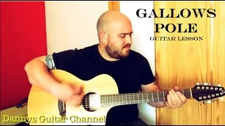 Gallows Pole - Led Zeppelin version - Guitar Lesson - Breedlove Atlas 12 string guitar
