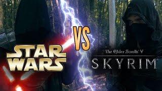 Star Wars (Sith) vs Skyrim (Dark Brotherhood) - LIVE ACTION DUEL