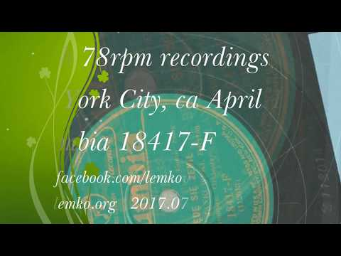 Polish 78rpm recordings, 1930. Columbia 18417-F. Basia Jasia Pokochała