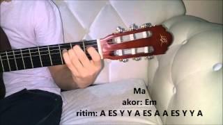 Bana öyle Bakma - Teoman (gitar)   Saz Kursu Solfej