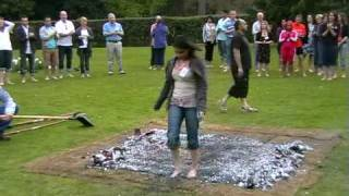 preview picture of video 'Firewalk for Save the Children's Haiti appeal'