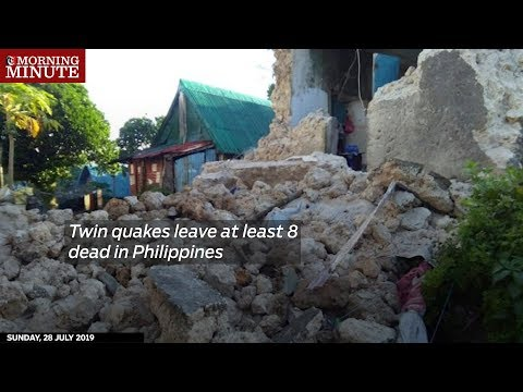 Twin quakes leave at least 8 dead in Philippines