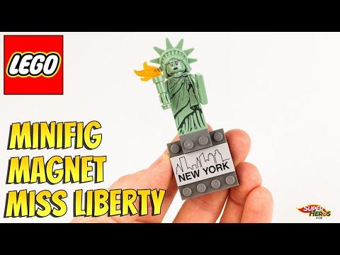 Vidéo LEGO Objets divers 854031 : Aimant modèle Statue de la Liberté