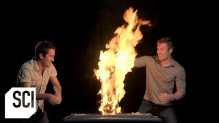 Fire Jenga?!?    Outrageous Acts of Science