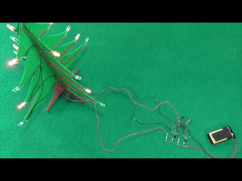 Cómo Hacer un Árbol Navideño Casero con LEDs (muy fácil de hacer)