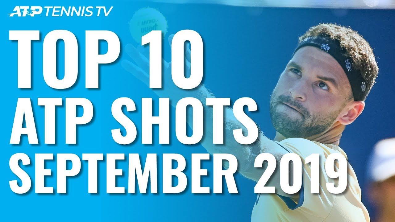Топ-десять зрелищных ударов сентября на турнирах ATP (ВИДЕО)