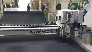 Oscillating knife cutter machine AKZ1625 shipping to Korea youtube video