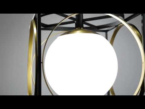 Video for Wadsworth Polished Nickel and Black 18-Inch One-Light Pendant