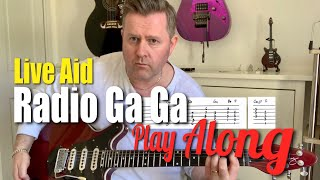 Queen Radio Ga Ga Live Aid Guitar Play Along With Guitar Tab & Chords Bohemian Rhapsody Soundtrack