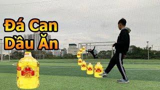 Thử Thách Bóng Đá mùa Asian Cup 2019 DKP thách Quang Hải nhí sút phạt và đá má ngoài bằng chai