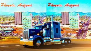 3D Full Trailer Truck to Phoenix POV ATS2 -  3D Side by Side SBS VR