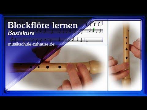 Blockflöte spielen lernen für Anfänger, Lektionen