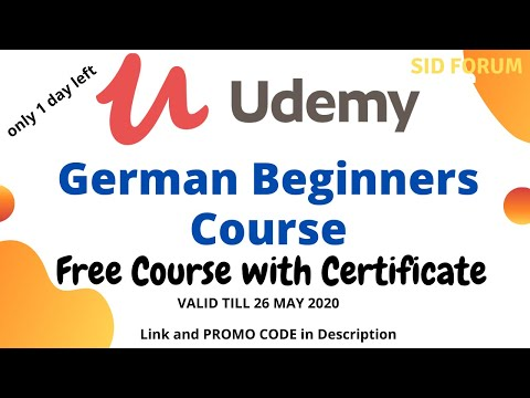 FREE German Language Course with Certificate   online Course ...