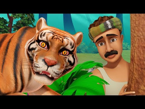 The Thankful Tiger Hindi Kahaniya | Hindi Stories for Kids | Infobells