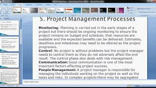 INTRODUCTION TO PROJECT MANAGEMENT- CLASS 1
