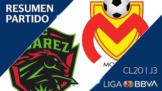 Resumen y Goles   Juárez vs Morelia   Jornada 3 - CL 2020   Liga BBVA MX