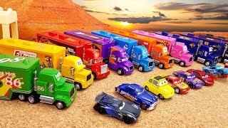Сюрпризы MINI CARS3 Игрушки Машинки с Транспортировщиками Мак / Mack Развивающее видео для детей