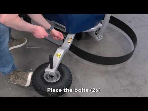 CSM 211 / 212 / 213: Attaching the wheel