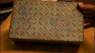 Faux Patina On Altered Cigar Box - Stackable