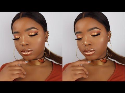 Beginner Friendly Affordable Drugstore Melanin Bronze Glow Makeup