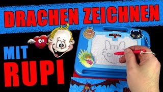 Drachenzeichnen leicht gemacht mit Rupi & dem Magnetic Pen - viel Spass :D