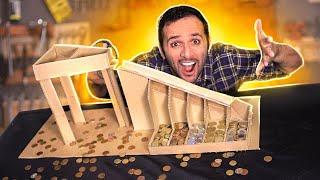 Separador de moedas caseiro turbinado