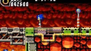 Sonic Advance 2 - Hot Crater Zone Act 1