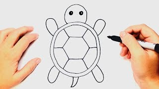How To Draw A Tortoise Step By Step | Easy Drawings