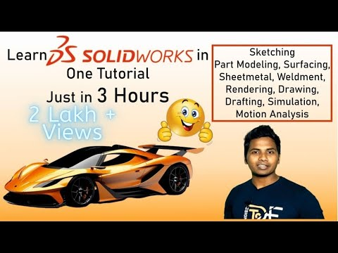 SolidWorks Tutorial in Hindi || Learn SolidWorks just in 3 Hour || Beginner to Advance Designer