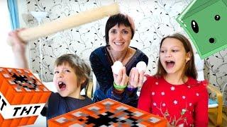 Маша, Адриан и Милада готовят пирожные по Майнкрафт рецептам