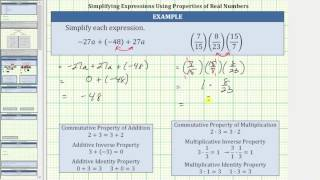 Review Properties of Real Numbers While Simplifying Expressions