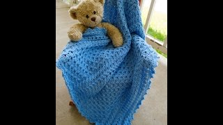 Crocheted Cabled Baby Blanket (Part 1)
