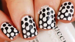 Trippy Polka Dot Nail Art Design DIY!    KELLI MARISSA