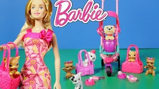 Barbie and Pets! Barbie Pets are Fun Playset!