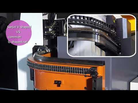 HBC2 -Chain type tool changer with hydraulic rail & Arm-rail with V-shaped groove