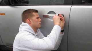 Keys locked inside of land rover discovery, How to open with no keys