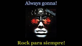 Judas Priest - Rock Forever - Lyrics / Subtitulos en español (Nwobhm) Traducida