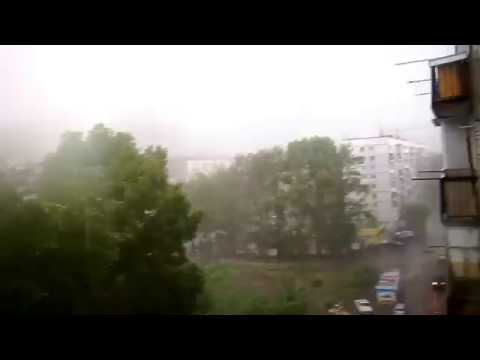 Неожиданный УРАГАН в Новосибирске 12.07.2014