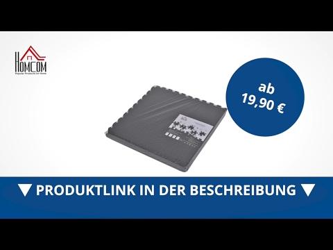 Homcom 6 tlg Gummimatte Bodenmatte Puzzlematte EVA verzahnt schwarz - direkt kaufen!