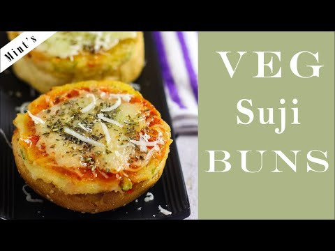 Veg Suji Buns | वेज सूजी बन्स | Healthy Breakfast Recipe | Mintsrecipes #256