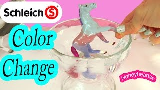 DIY Schleich Color Changing Foal - Easy Horse Nail Polish Craft Do It Yourself Video