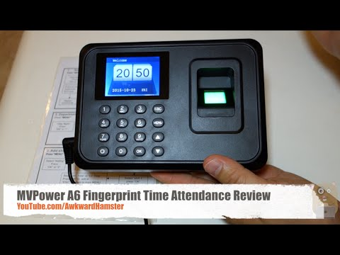 MVPower A6 Fingerprint Time Attendance Review