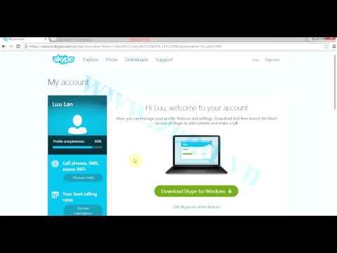 Cách dùng Skype, download skype, tạo tài khoản skype