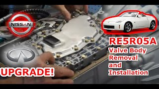 Nissan Pathfinder Xterra transmission valve body removal and