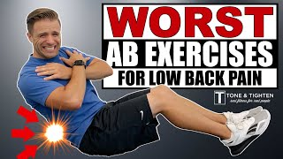 WORST Ab Exercises For Back Pain - TRY THIS INSTEAD!