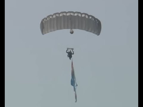 Paratroopers Jump Demonstration at Defence India Expo 2020