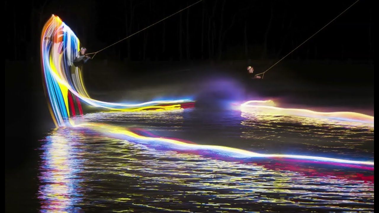 Night Wakeboarding With Light Boards Paints Mesmerising Pictures