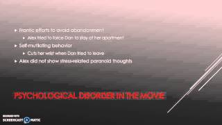 Borderline Personality Disorder in Fatal Attraction
