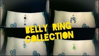Trying On ALL My Belly Button Jewelry | Belly Button Ring Collection